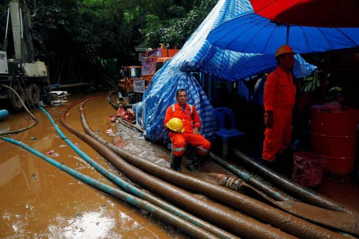 Thai authorities deciding how to rescue soccer team from flooded
