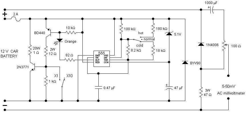 battery tester circuit