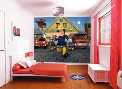 Fireman Sam 3d Wallpaper Walltastic Cpapier Peint Sam Le Pompier