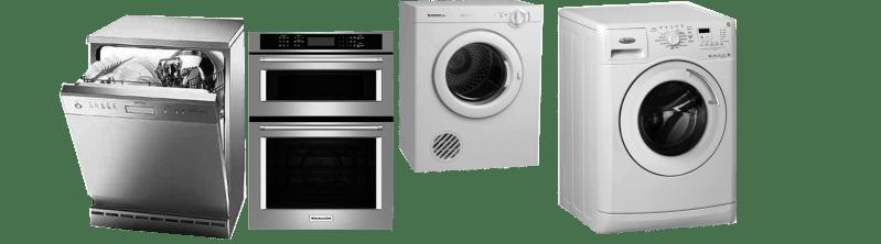 Washing machine oven and dishwasher