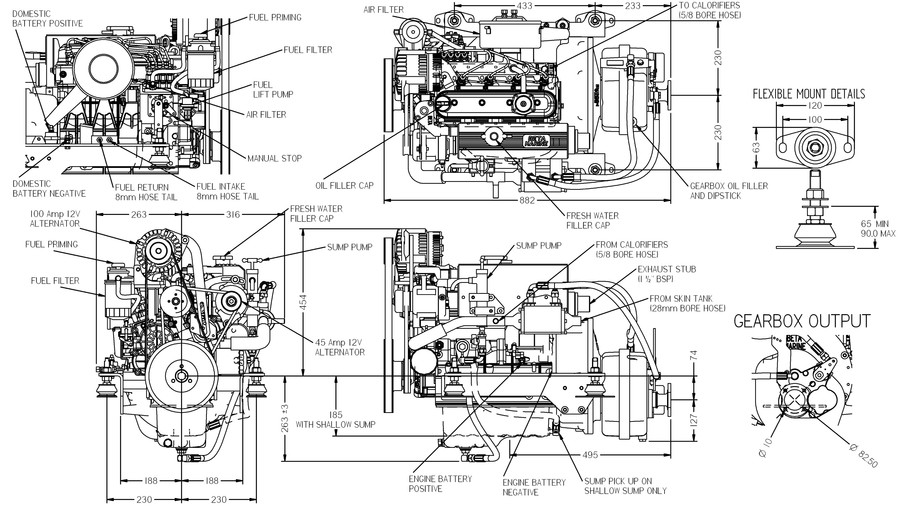 Beta Marine Engine 38 - Products Drive Gear  Engines Engines