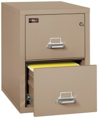 Fireproof Fireking 2 Hour Rated 2 Drawer Letter File ...