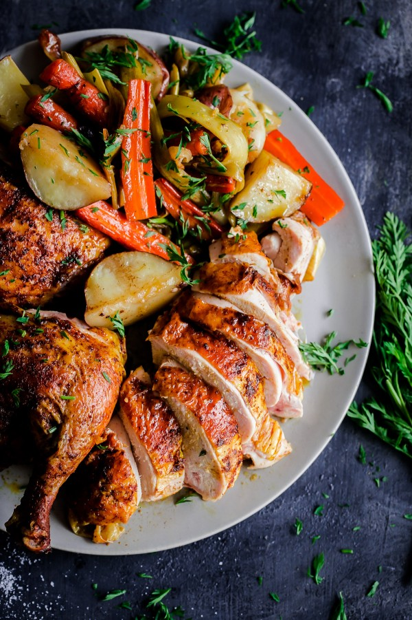 Middle Eastern Roast Chicken With Vegetables - A Beautiful Plate