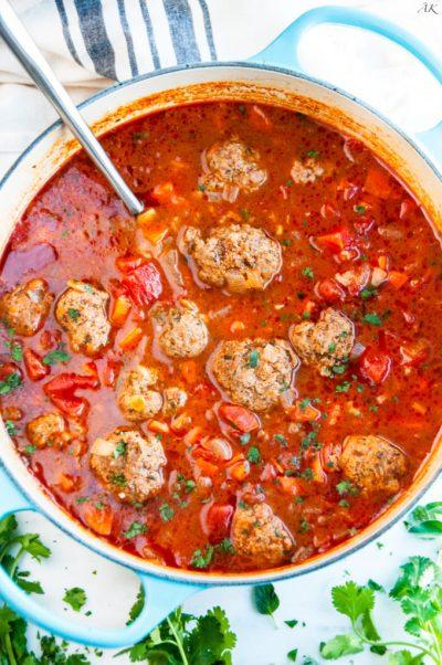 Albondigas Soup (Mexican Meatball Soup) - Aberdeen's Kitchen