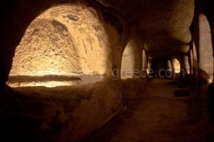 katakomves Milos, Cyclades, Greece