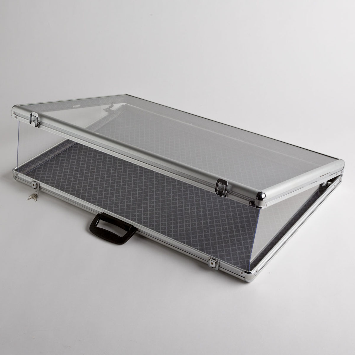 Aluminum Display Case With Glass Cover Ab Store Fixtures