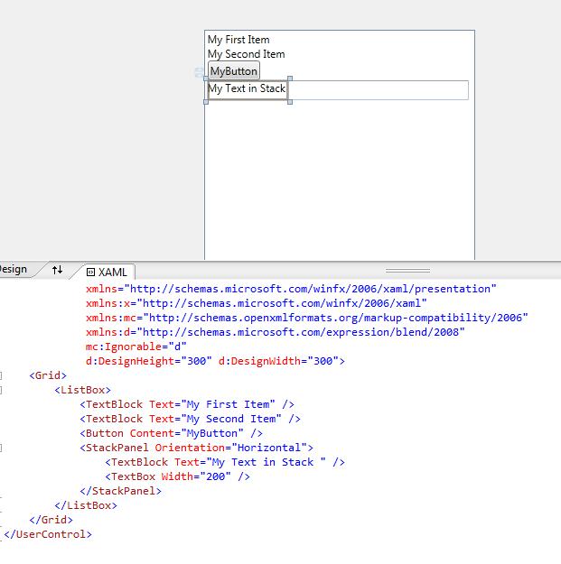 Items Control WPF