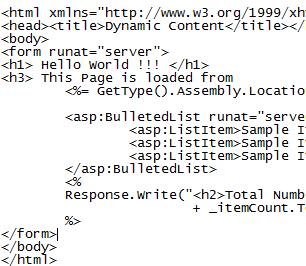 ASP.NET Server Side Controls