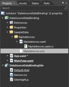 Expression Blend 4 : Sample Data Folder