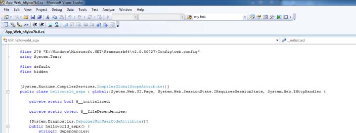 ASP.NET generated Code file