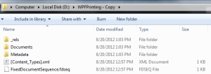 WPF XPS Directory Structure