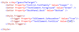 WPF Triggers
