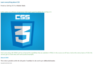 Style By CSS Tag