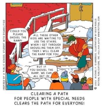 Cartoon - If you shovel the ramp we can all get in