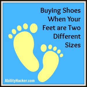 Buying shoes when your feet are two different sizes