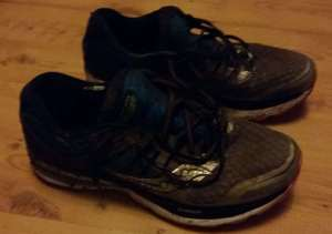 pic of dirty running shoes