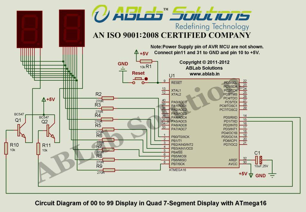 0 to 99 Display in two 7-Segment Display with AVR ATmega16