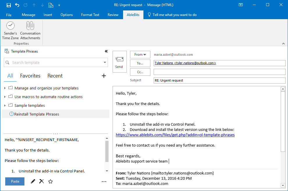 using email templates in outlook 2013