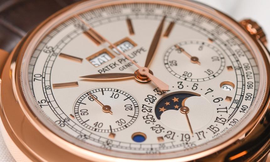Patek Philippe 5270R-001 Perpetual Calendar Chronograph Watch Hands