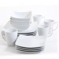 Monarch White Square Dinnerware Set   Dinnerware Sets ...