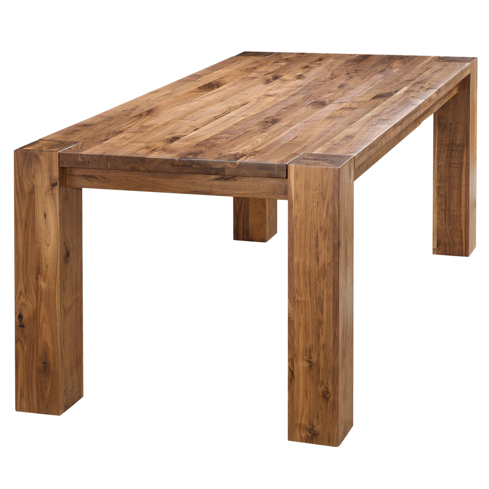 byron rustic solid walnut wood dining table