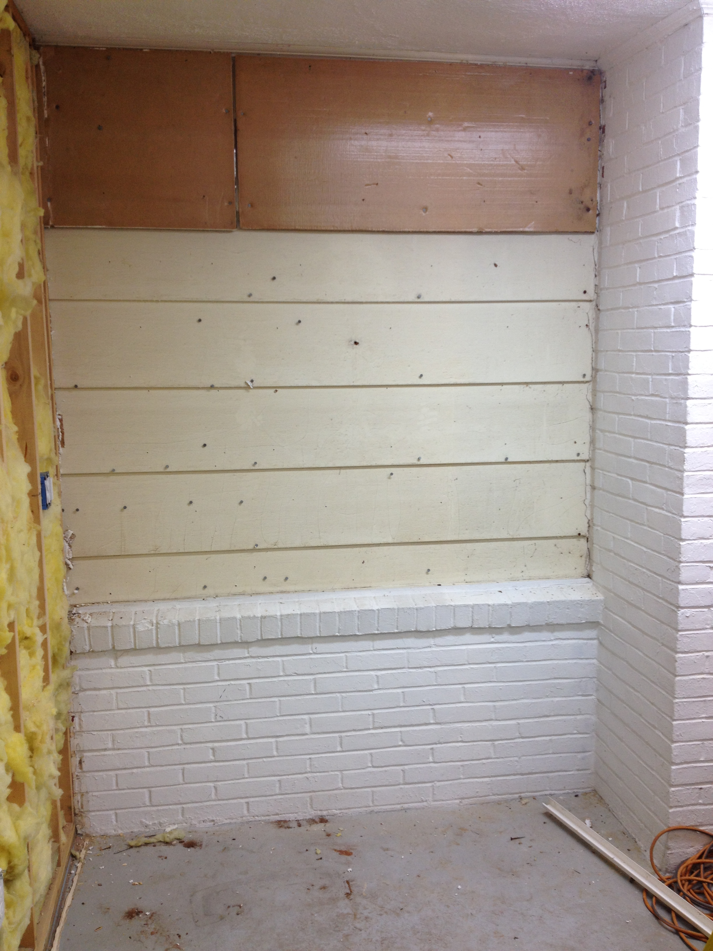 How to hang drywall on walls - This Side Of The Garage Posed The Biggest Challenge For Hanging Drywall Because We Had