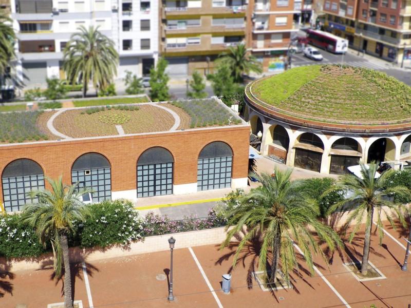 Fotografía de una cubierta ajardinada,. Imagen cedido por Jardinería Villanueva