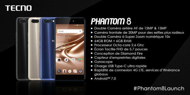 Le Smartphone Phantom 8 Launching de TECNO ce qu'il faut savoir