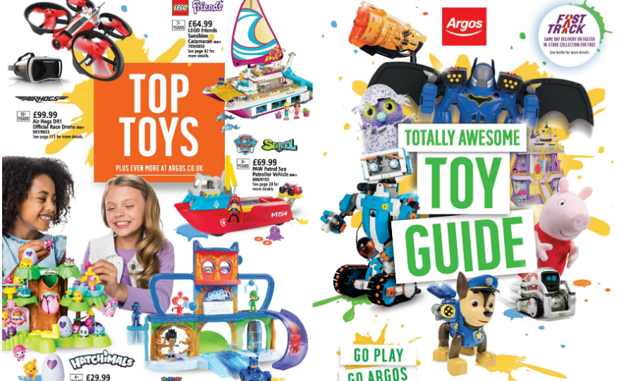 Argos Launches First Ever Toy Catalogue Sainsbury S