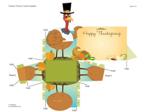 Printable Place Cards for Your Thanksgiving Dinner - About A Mom