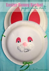 Easter Bunny Basket Paper Plate Craft - About A Mom