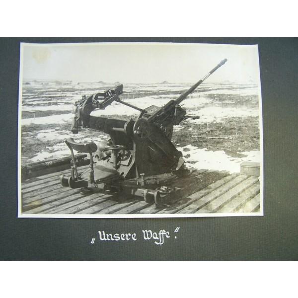 Lutwaffe Flak presentation album to the chief of kompanie of 1/(H
