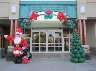 """Holiday arches say, """"Celebrate."""""""