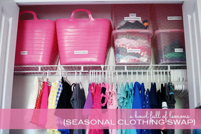 Summertime Organizing Seasonal Clothing Swap A Bowl Full of Lemons