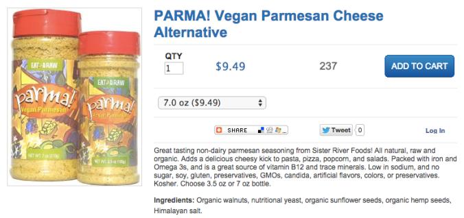 vegan parmesan parma