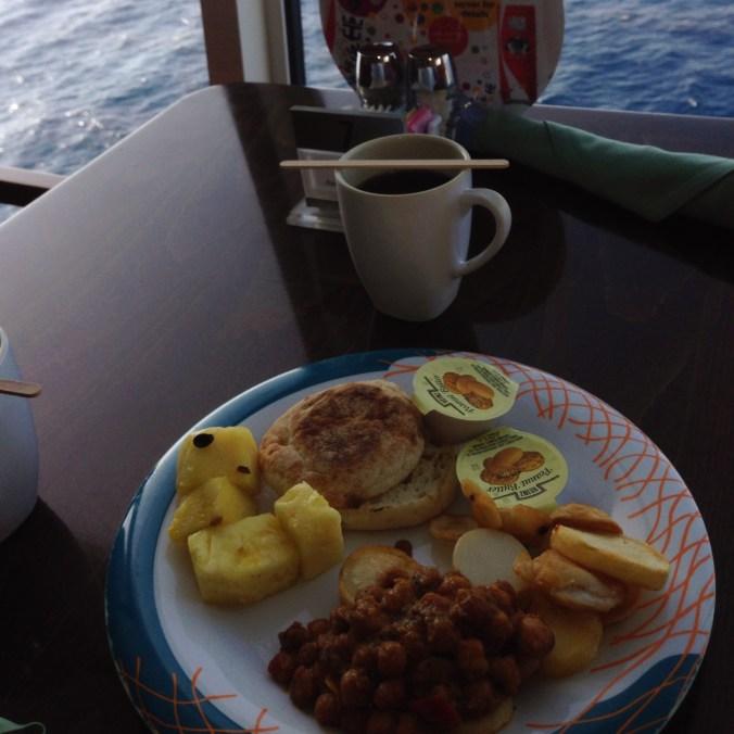 vegan breakfast on royal caribbean cruise