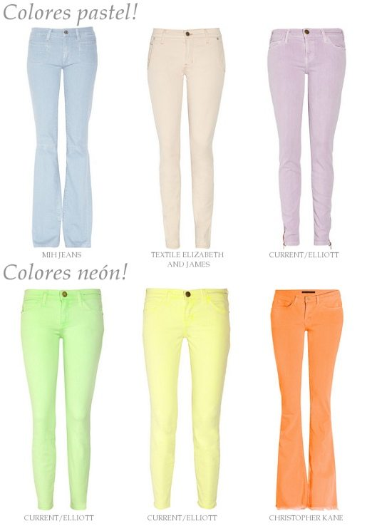 Tendencias en Jeans: Colores Pastel