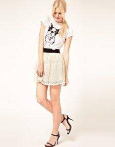 faldas para-piernas cortas: mini falda en línea A