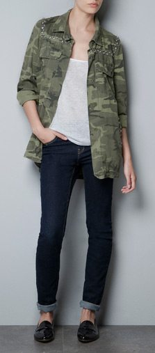 camisa estampado camuflaje marca Zara