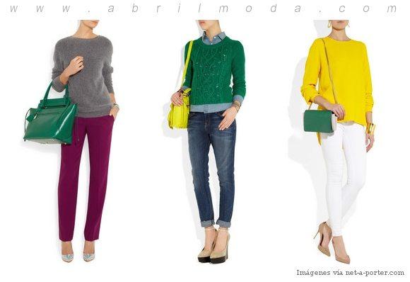 Color esmeralda, el color del 2013 combinado con amarillo o morado