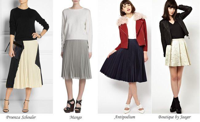 Moda en faldas: Faldas plisadas muy favorecedoras