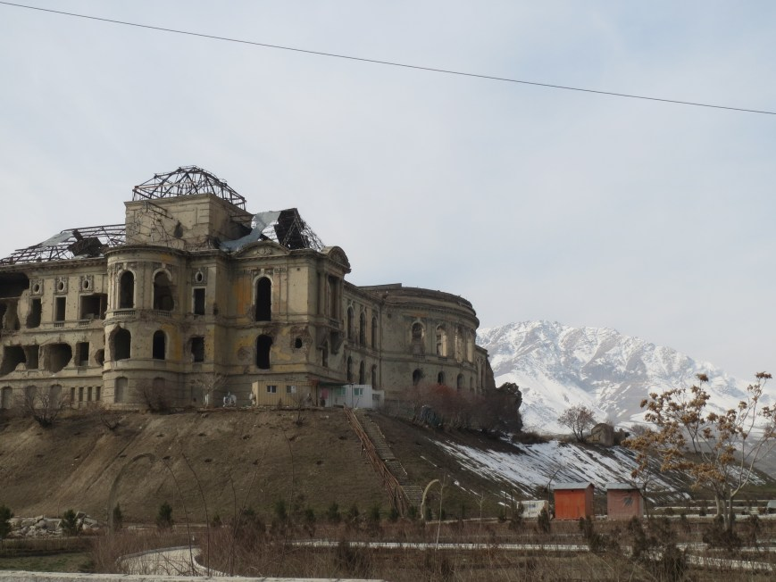 The King's Palace in Kabul - framed by the Hindu Kush