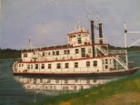 Mississippi River Boat Painting