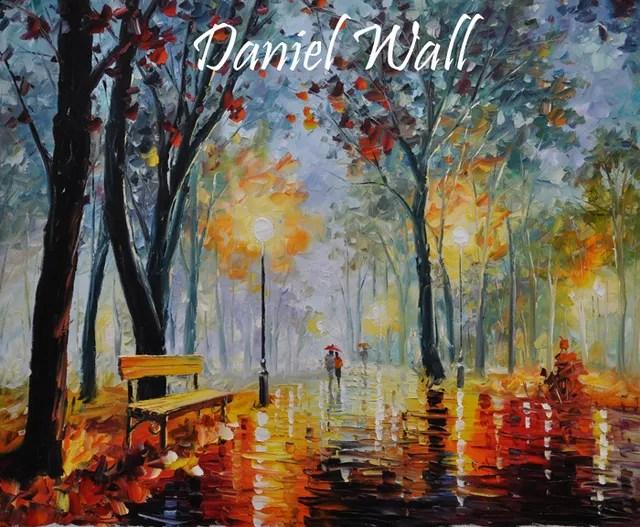 Daniel Wall Artwork Lamp light Dusk Original Painting Oil