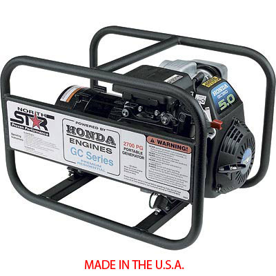 NorthStar Portable Generator - 165912, 2700 Watts, 46 HP, Honda