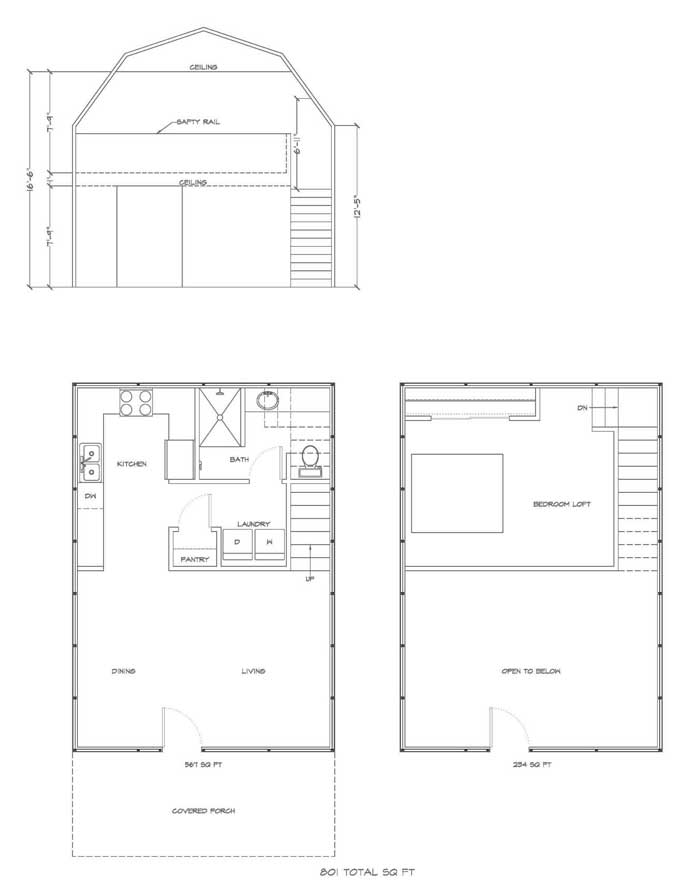 Kit Homes And Guest House Kits Gambrel Style