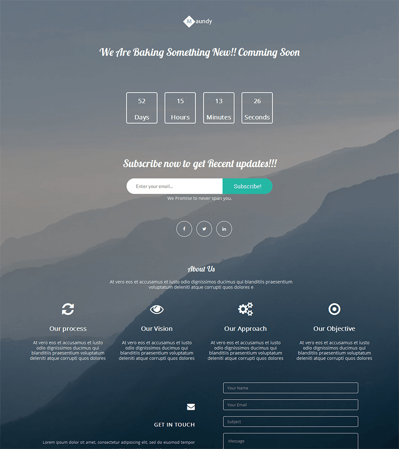 15 Free Bootstrap Landing Pages Templates