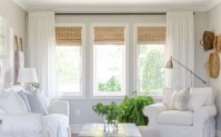 Woven Wood Shades in our Living Room - A Burst of Beautiful
