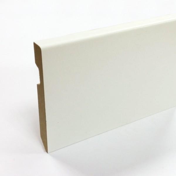AC Bois - plinthe pré-peinte blanc carrée 70mm - Plinthes Bois A Peindre