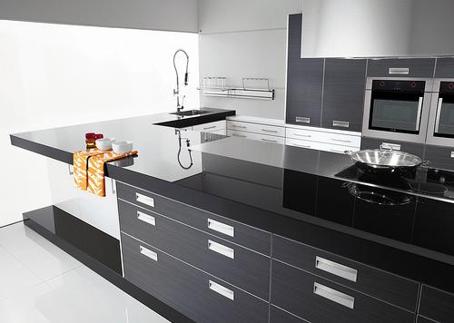 11 dise os de cocina en color negro for Elemento de cocina negro
